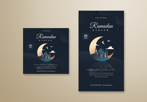 Ramadan Kareem Social Media Post Layouts