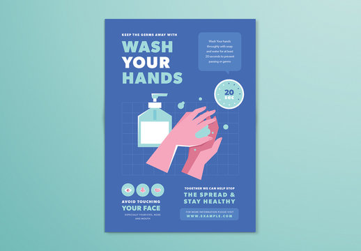 Wash Your Hands Poster Layout