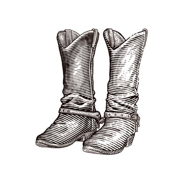 western cowboy boots or leather boots
