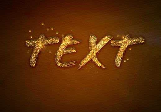 Glitter Texture Text Effect Mockup