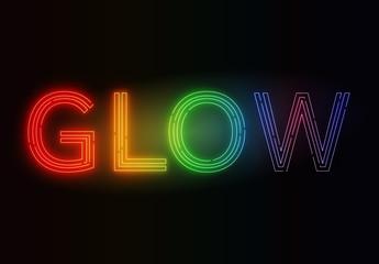 Rainbow Neon Glow Text Effect
