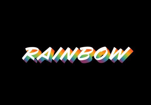 Rainbow Text Effect