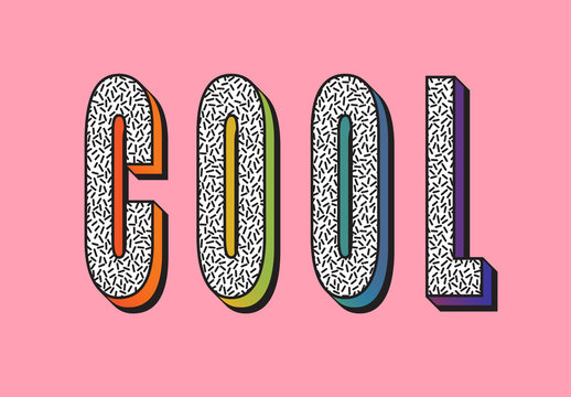 Bright Colourful Text Effect