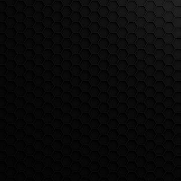 3D render - geometric hexagonal modern background, gray, black