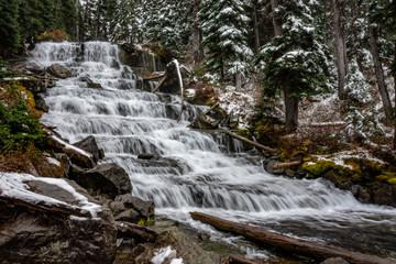 waterfall in Joffre lake area