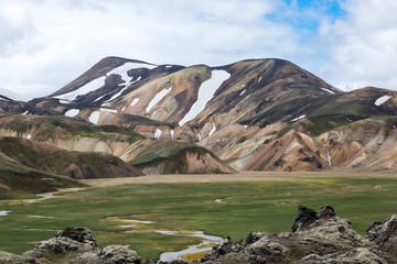 Landmannalaugar mountain scene