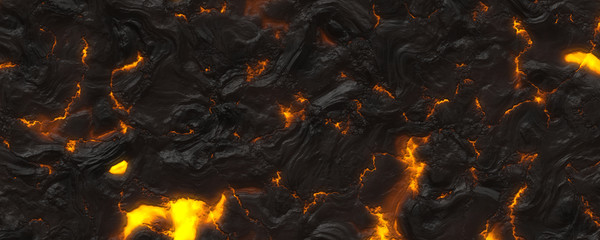 3d material hot magma background Wall mural