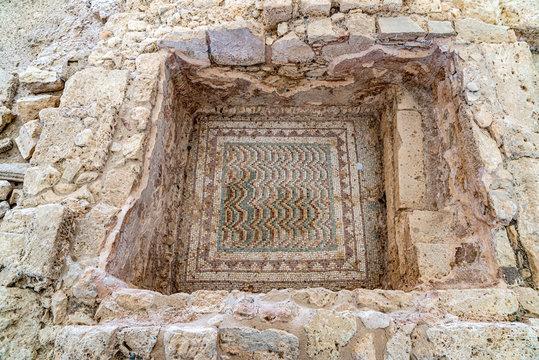 Mosaic base of the house of Eustolios, Kourion (Cyprus)