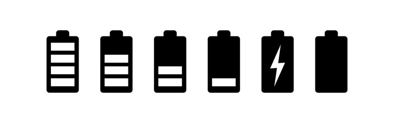 battery icons set. Battery vector icon
