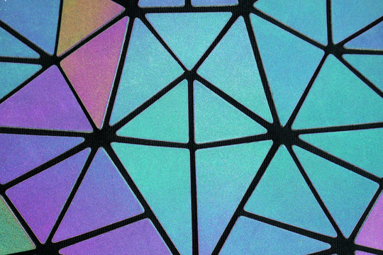 Holographic background of triangles of different sizes