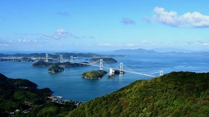 Wall Mural - 来島海峡と来島海峡大橋