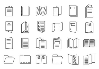 Obraz Catalogue icons set. Outline set of catalogue vector icons for web design isolated on white background - fototapety do salonu