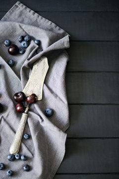 Cherry and vintage tart shovel