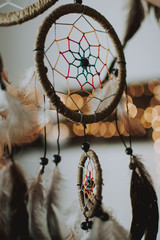 Close-up Of Dreamcatcher Hanging At Home