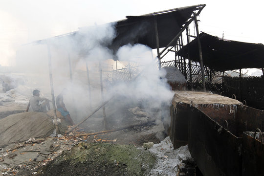 Hazaribagh tannery industry in the capital largely contributes to the pollution of the environment. As many as 240 tanneries run on 25 hectares of Land, discharging about 6000 cubic meters of effluent