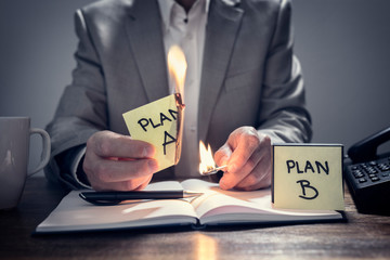 Change from Plan A to business Plan B