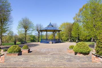 Bandstand in Colchester Castle Park in spring