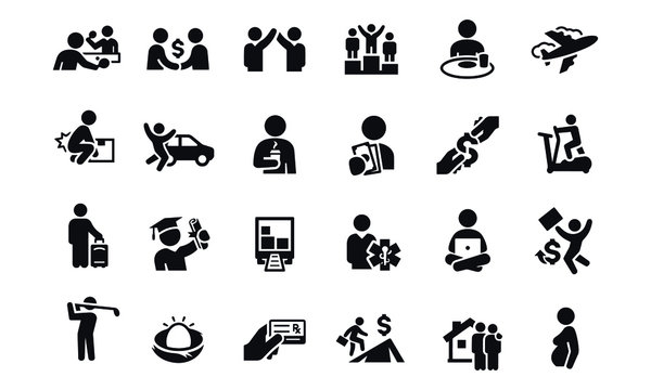 Benefits and Perks Icons vector design