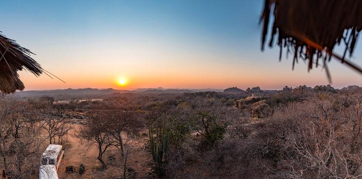 Sunrise in Matopos National Park (southern Zimbabwe)