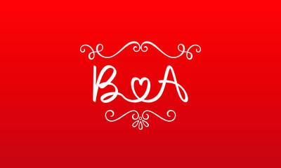 Fototapeta BA Abstract Monogram Letter Mark Vector Logo Template obraz