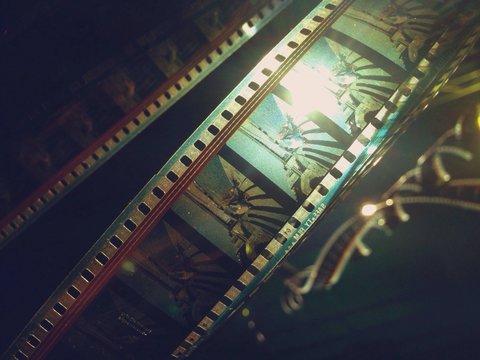 Close-up Of Film Reels