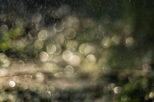 Full Frame Shot Of Water Drops On Black Background