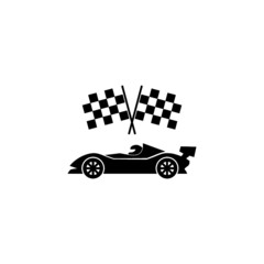 Formula race car icon isolated on white background