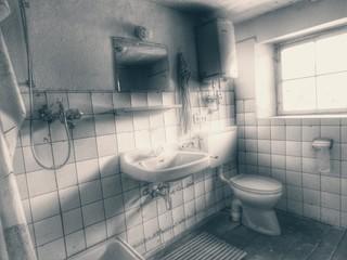 Interior Of Brightly Lit Bathroom