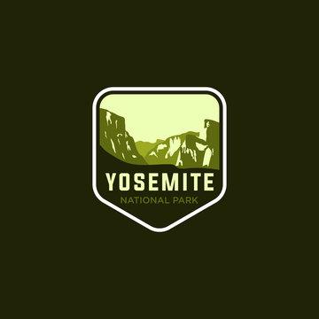 National Park Logo Badge Icon Vector Illustration