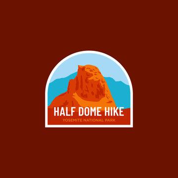 Half Dome Yosemite National Park Logo Badge Icon Vector Illustration