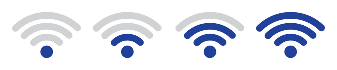 Wi-fi, wireless and wifi icon or wi-fi icon sign for remote internet access, vector illustration