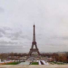 Poster de jardin Paris Eiffel Tower With Eiffel Tower In Background