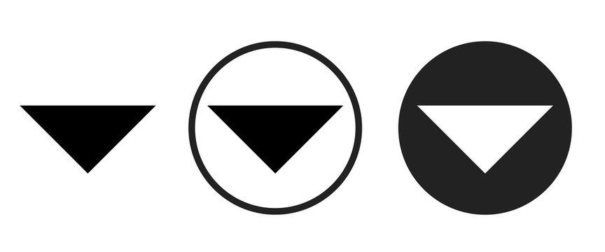 arrow drop down icon . web icon set .vector illustration