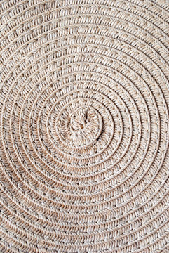 ethnic bag with weaving, round vines, with fabric ribbons, accessories. texture, background