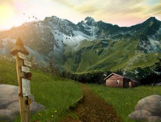 Obraz krajobraz górski  - fototapety do salonu