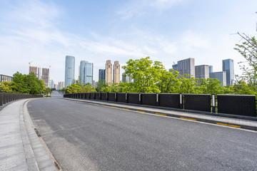 Wall Mural - road in city