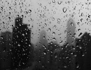 Obraz Water Drops On Wet Window - fototapety do salonu