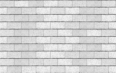 Realistic Vector brick wall seamless pattern. Gray textured brick background for print, paper, design, decor, photo background
