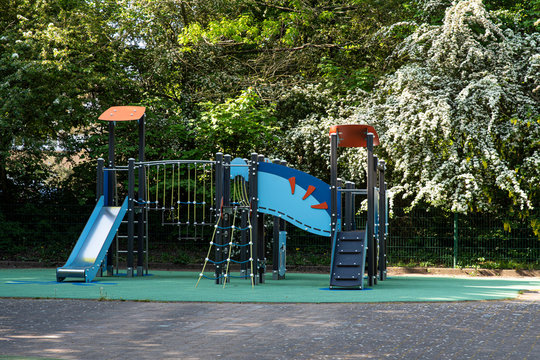 Colourful outdoor playground for children