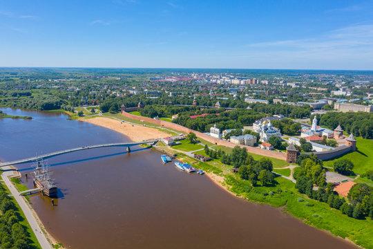 aerial view of Novgorod Kremlin Russia