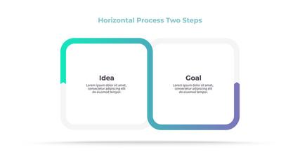 Fototapeta Business infographics. Timeline with 2 steps, options. Vector template. obraz