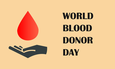 Wall Mural - World blood donor day