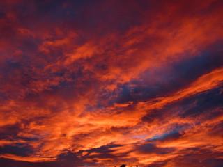 Fototapeten Kastanienbraun red clouds in the sky