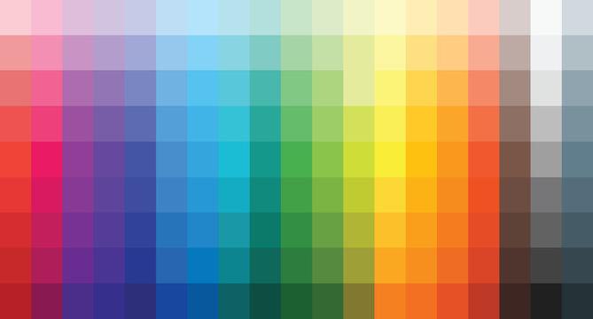 colour set palette vector illustration
