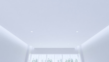 3d ceiling in empty white room
