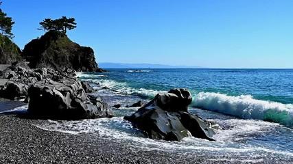 Wall Mural - 裏桂浜に打ち寄せる波