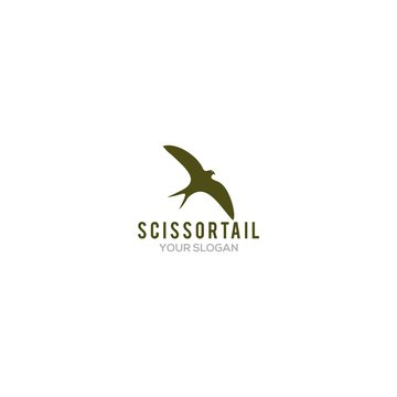 Simple Scissortail Logo Design Vector