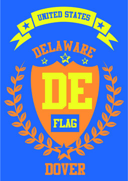 delaware printing and embroidery graphic design vector art