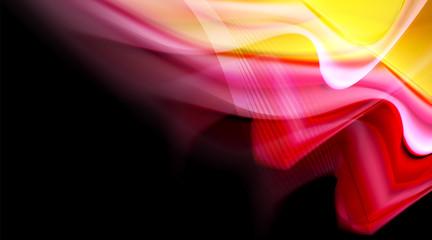 Fototapete - Liquid colors fluid gradients on black background