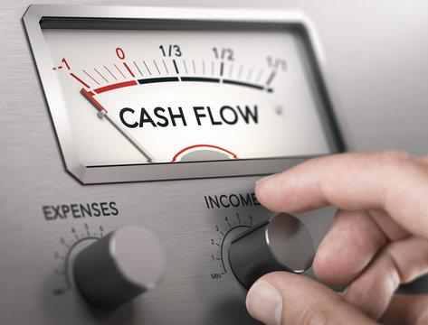 Cash Flow Crisis Concept. Risk of insolvency.